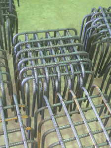 Small Square Pile Cap Cages